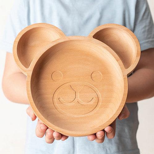 Eco-friendly Kids Bear Plate
