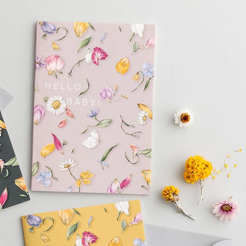 Hello Baby Greeting Card - Petal Confetti