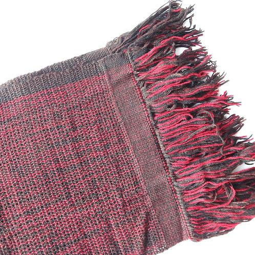 Handwoven Woollen Scarf - Magenta