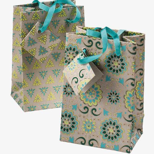 Handmade Paper Gift Bags - Ivory (Set of 2)