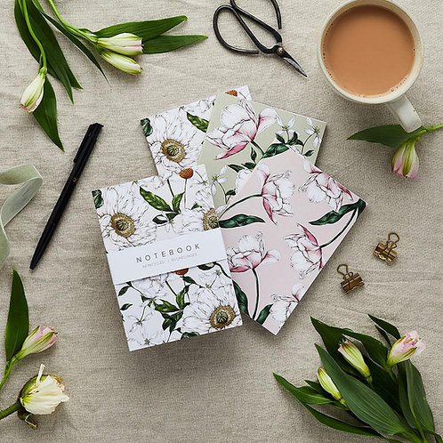 Notebooks - Botanical 'Spring Blossom' Collection (Set of 3)