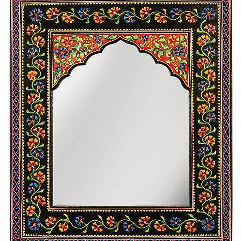 Hand Painted Floral Wall Mirror - Small