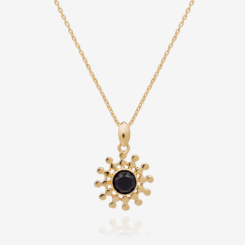 Handcrafted Sun Drop Necklace - Black Onyx