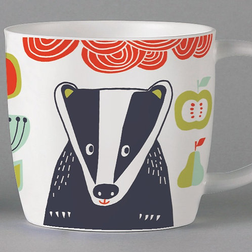 Folkland Badger Mug - White