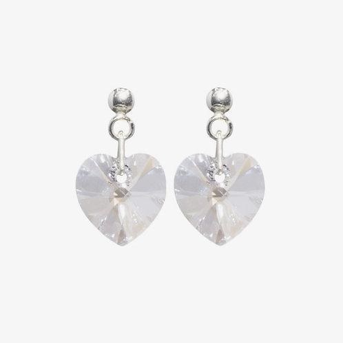 Handmade Heart Earrings - Moonlight