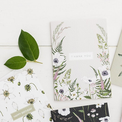 Thank-you Greeting Card - 'Wild Meadow'