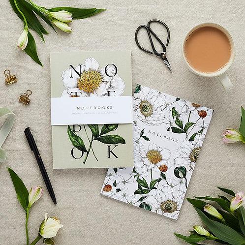 Notebooks - Botanical 'Spring Blossom' Collection (Set of 2)