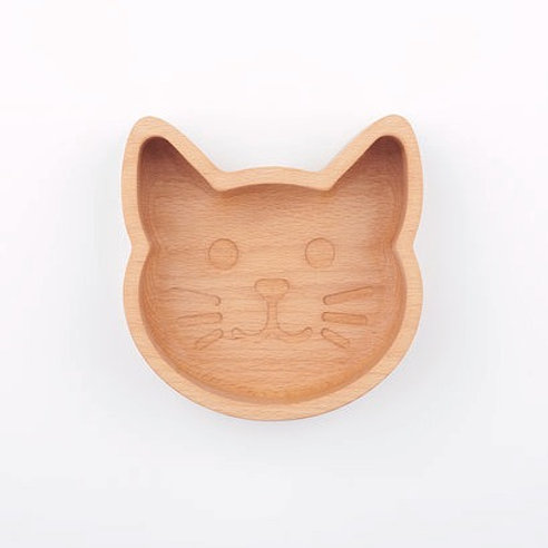 Eco-friendly Wooden Cat Food Bowl