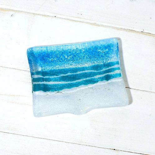 Handmade Soap Dish -  Turquoise Beach
