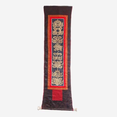 Thangka - The Eight Auspicious Symbols Wall Hanging