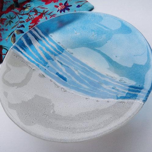 Handmade Beach Glass Bowl