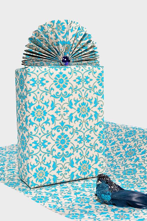 Turquoise Florentine Gift Wrap