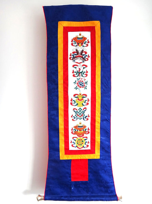 Thangka - The Eight Auspicious Symbols Wall Hanging