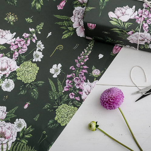 Botanical Wrapping Paper - Summer Garden