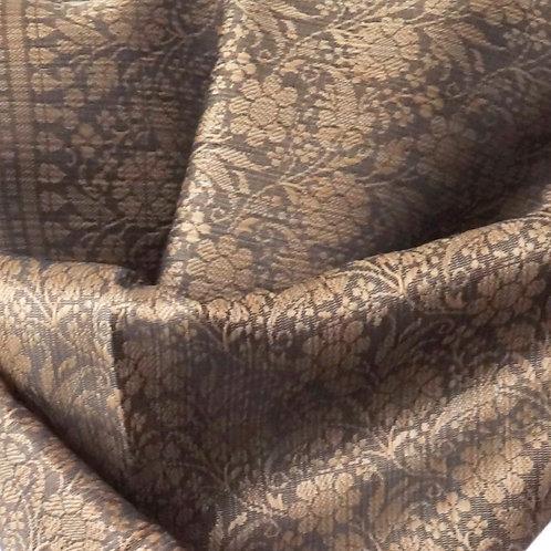 Handwoven Indian Silk Scarf – Brown