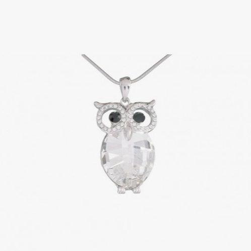 Handmade Crystal Owl Necklace