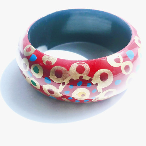 Handpainted Chunky Wooden Bangles