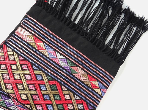 Handwoven Silk Stole - Black