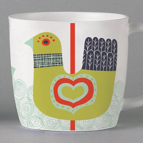 Folkland Carousel Mug - White