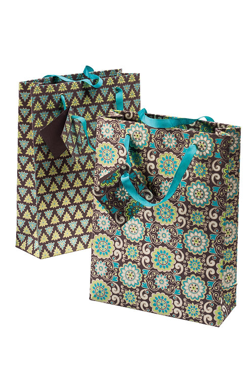 Handmade Paper Gift Bags - Earth (Set of 4)