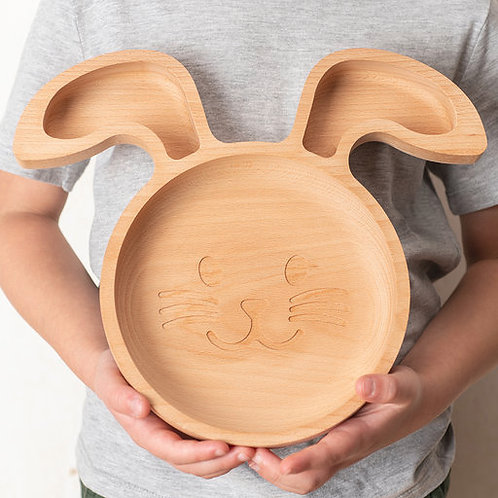 Eco-friendly Kids Rabbit Plate