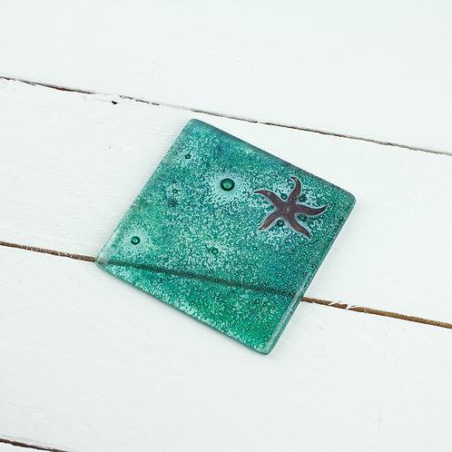 Handmade Glass Coaster - Starfish