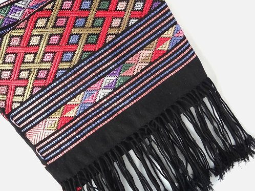 Handwoven Silk Stole - Black