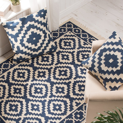 Kilim Indigo Cushion Cover - Small