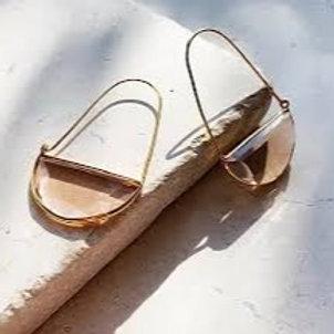 Macke Quartz Earrings - Champagne