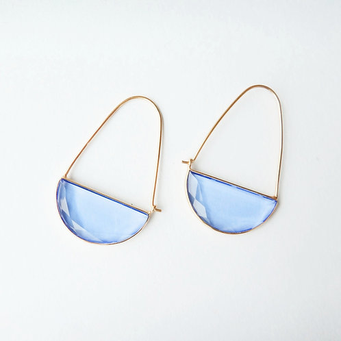 Macke Earrings - Hydro Blue Quartz