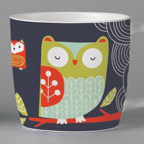 Folkland Barn Owl Mug - Grey