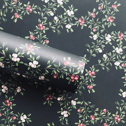 Merry Nouveau Navy Wrapping Paper
