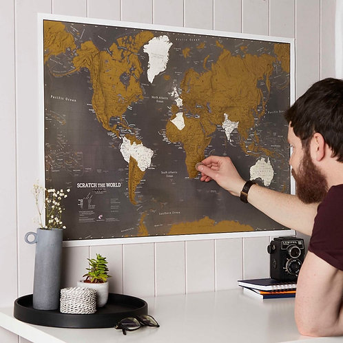 Scratch the World® Map Print - Black edition