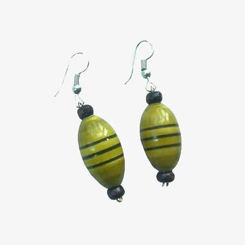 Handmade Drop Earrings - Light Green