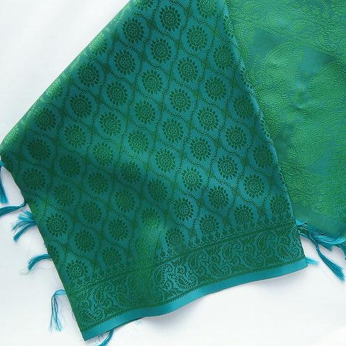 Handwoven Indian Silk Scarf – Green