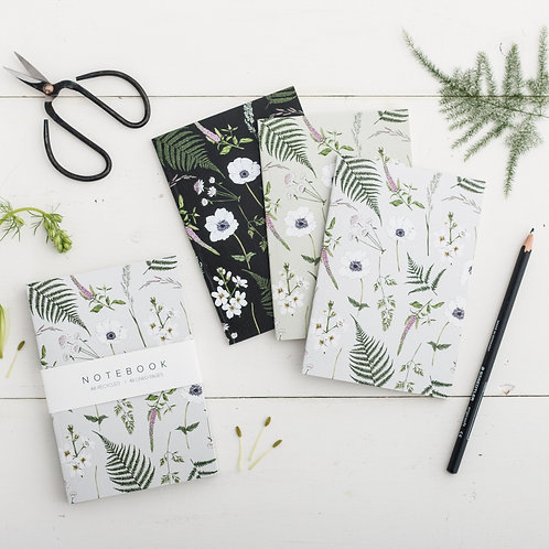 Notebooks - Botanical 'Wild Meadow' Collection (Set of 3)