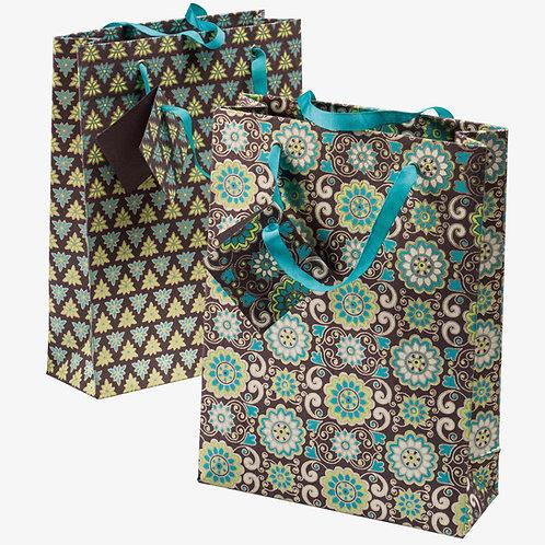 Handmade Paper Gift Bags - Earth (Set of 2)