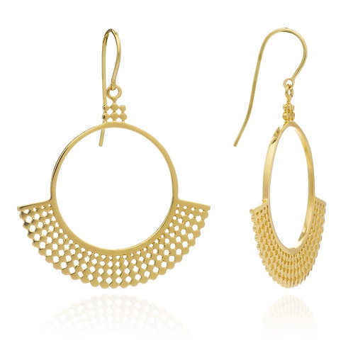 Etrusca Fan Hoop Earrings