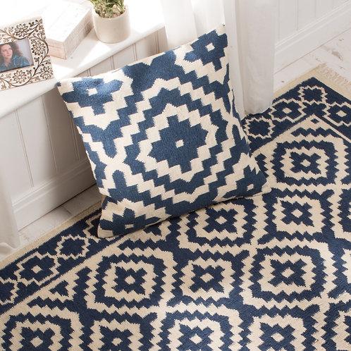 Kilim Indigo Cushion Cover - Large