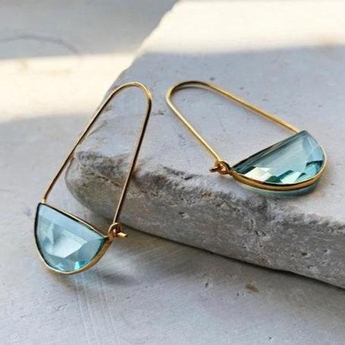 Macke Earrings - Light Blue Quartz