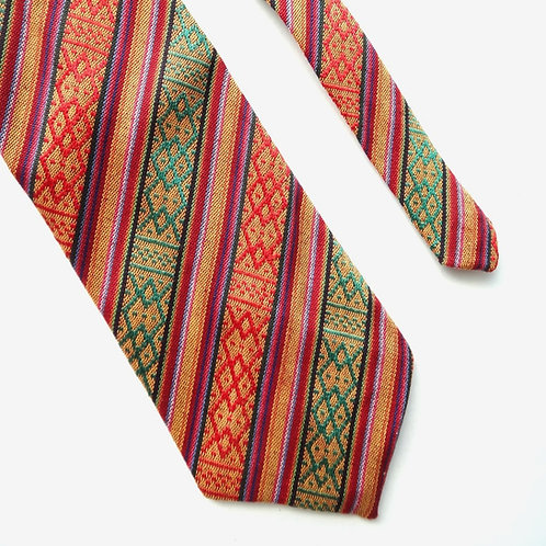 Handwoven Striped Tie