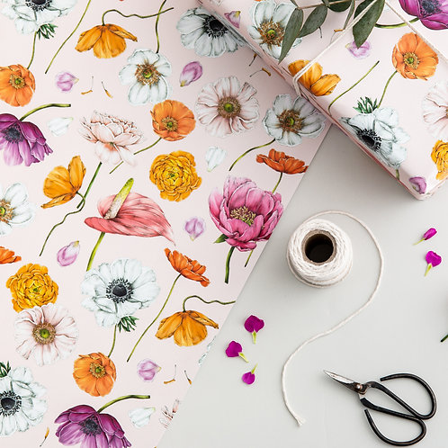 Botanical Wrapping Paper - Floral Brights