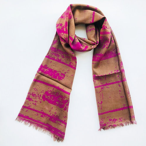 Abstract Hand Printed Scarf