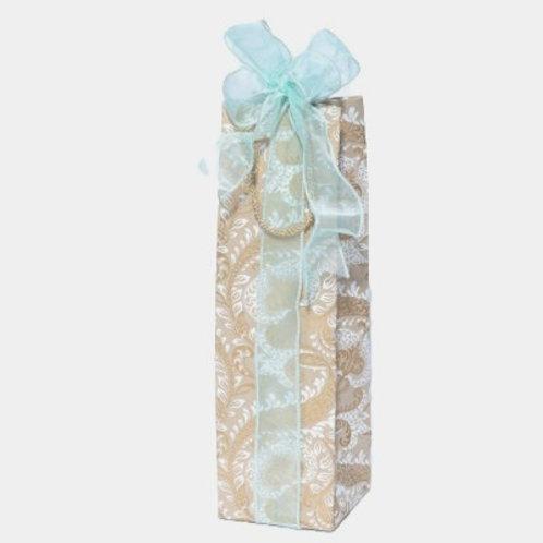 Beige Splendour Bottle Gift Bag