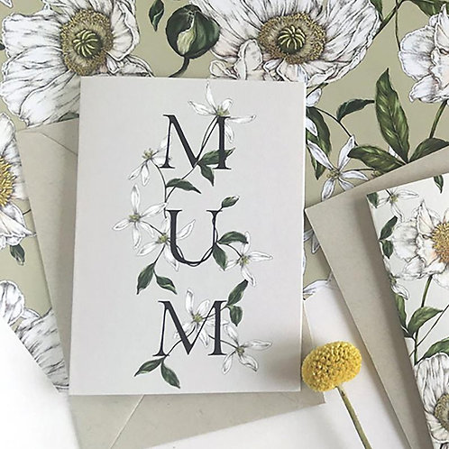 MUM Greeting Card - 'Spring Blossom'