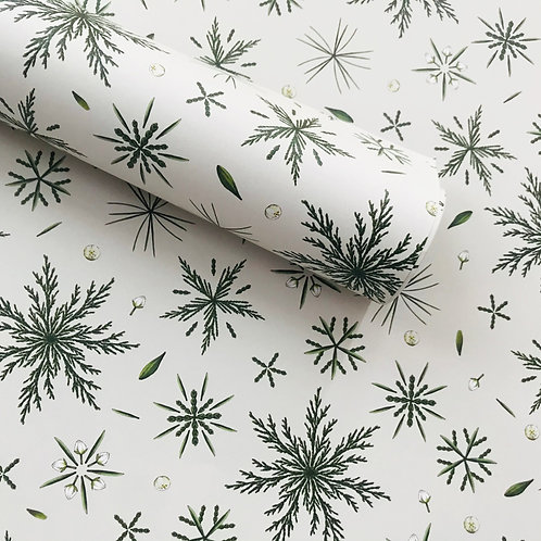 Festive Foliage Ivory Wrapping Paper