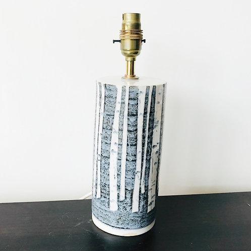 Handmade Birch Cylinder Lamp Base