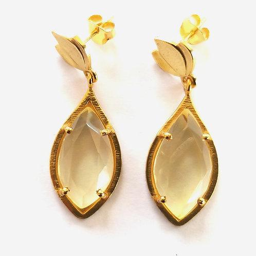 Tulip Earrings - Lemon Quartz