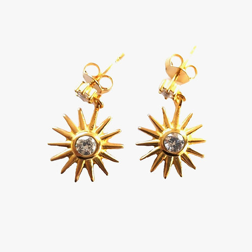 Crystal Quartz Drop Earrings - White