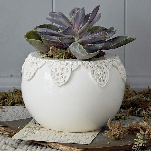 Handcrafted Tangled Appliqué Indoor Planter